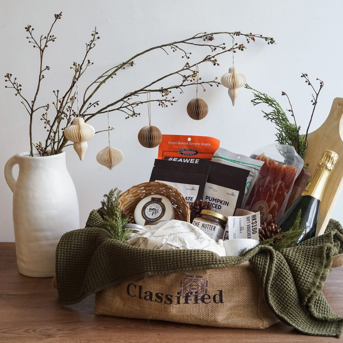 Classified Christmas Hamper a Jolly Holly Day